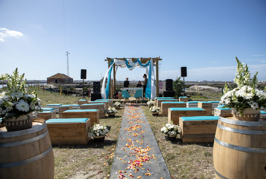 Altar para casamento na Ostraveiro.